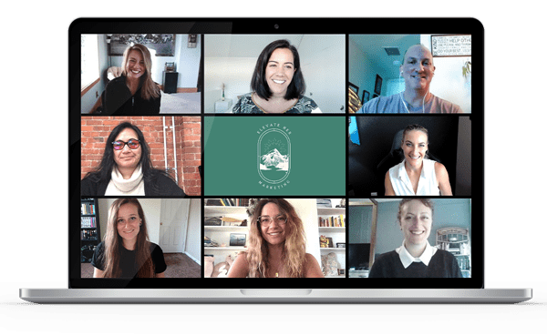 Elevate Her Marketing team members on a Zoom call